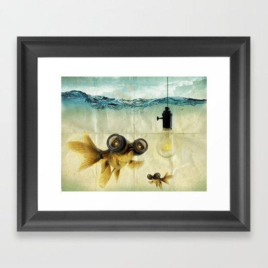 Fish Eyed Lens 03 Framed Art Print