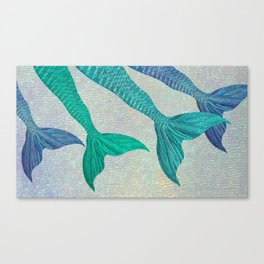 Glistening Mermaid Tails Canvas Print