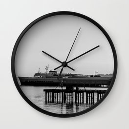 Coho at Dock Wall Clock