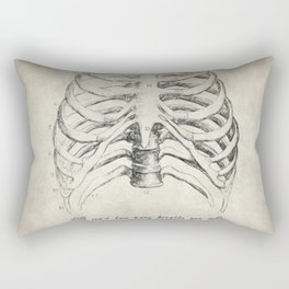 Breathe Quote Rectangular Pillow