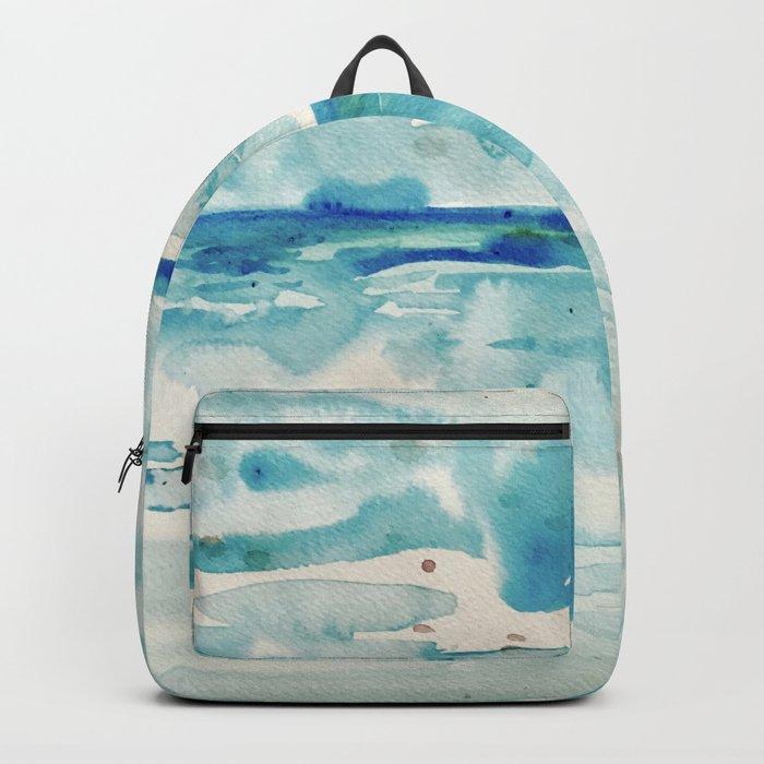 Miami Beach Watercolor #6 Backpack