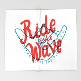 Ride the Wave Throw Blanket