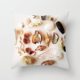 Gull Skull with Plastic Princess Throw Pillow