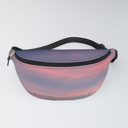 Pink sky in evening Fanny Pack
