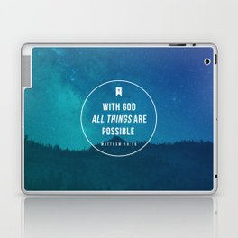 Matthew 19:26 Laptop & iPad Skin