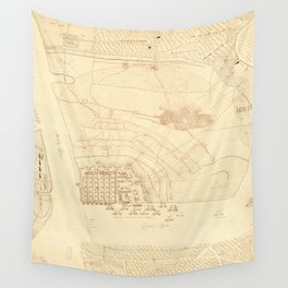 Vintage Map of Charleston SC (1780) Wall Tapestry