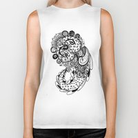paisley Biker Tanks featuring Paisley by Flavia Caponi