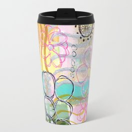 Flowers and Circles and Lines, Oh My! Travel Mug