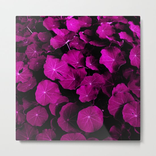 pink leafs XIV Metal Print