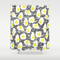 Egg Vibes Only Shower Curtain