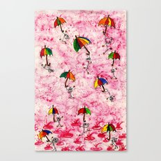 Dance in the Rain! Canvas Print