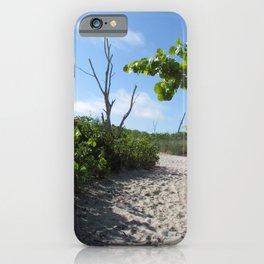Path to the beach Manasota Key beach Stump Pass State Park Englewood, Florida iPhone Case