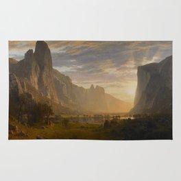Looking Down Yosemite Valley, California Rug