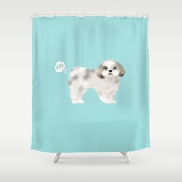 shih tzu funny farting dog breed pure breed pet gifts Shower Curtain