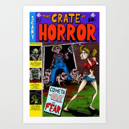 The Crate of Horror Art Print