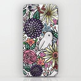 Flowers, Birds & A Heart iPhone Skin