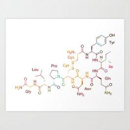 Oxytocin Hormone Of Love Art Print