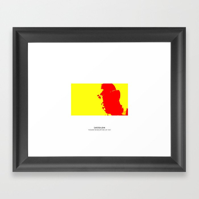 IN SEARCH OF SECURITY AND LOVE Framed Art Print