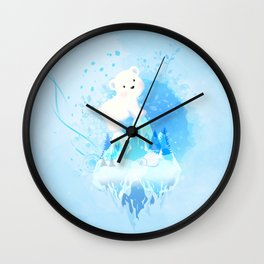 Save Polar Bear! Wall Clock