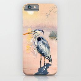 Great Blue Heron at Sunset iPhone Case