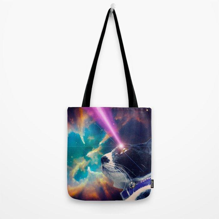 Neko San in Space Tote Bag
