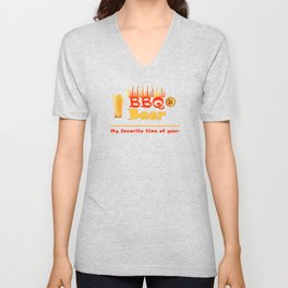 BBQ & Beer - My Favorite Time of Year Summer Fun Unisex V-Neck
