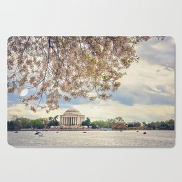 Jefferson Memorial and Cherry Blossoms Cutting Board