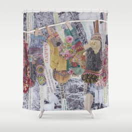 Winter comfort Shower Curtain