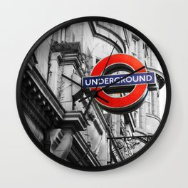 Sign of the Underground Wall Clock
