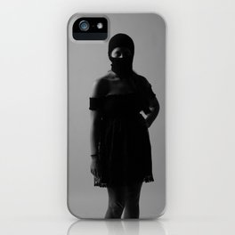 B with ski mask iPhone Case