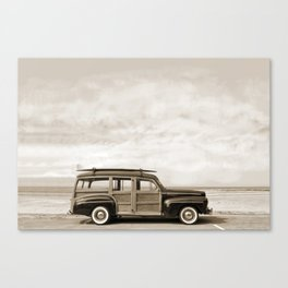 1948 Woody Wagon Sepiatone Canvas Print