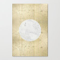 inverse gOld sun Canvas Print