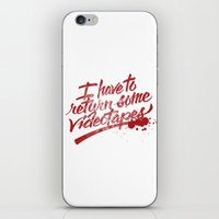 american psycho iPhone & iPod Skins featuring American Psycho by Paul Von Slagle