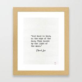 Edward Lear quote Framed Art Print