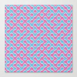Blue Pink Truchet Tilling Pattern Canvas Print