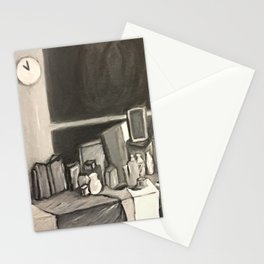 As Time Passes in Black and White Stationery Cards
