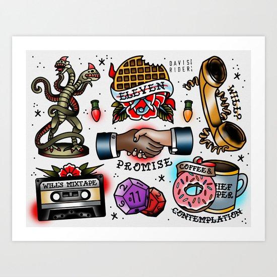 Stranger Things Flash Sheet Art Print