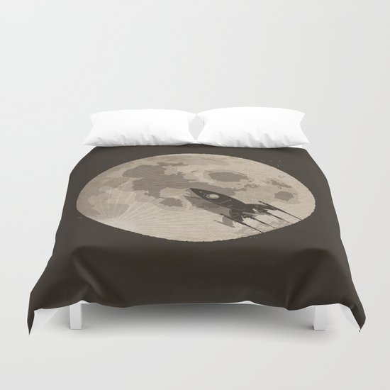 Around the Moon Duvet Cover