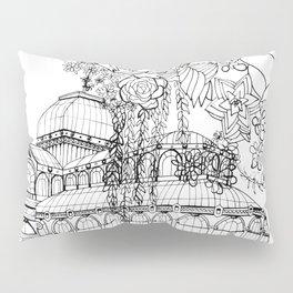 Conservatory of succulent - Black Pillow Sham