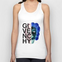 givenchy Tank Tops featuring (Limited Edition) Givenchy X-Ray by Javier Camacho