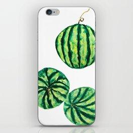 3 watermelon watercolor iPhone Skin
