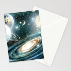 Planets & Black hole Stationery Cards