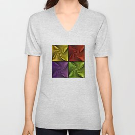 Vortex illusion Unisex V-Neck