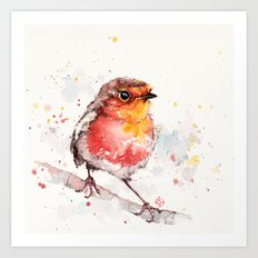 Adventure Awaits (Baby Robin Red Breast) Art Print