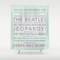 birthday Shower Curtains featuring Birthday by Samantha McLaughlin