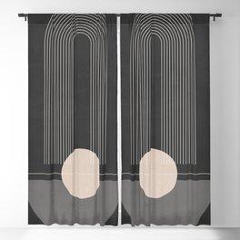 Geometric Shapes 55 Blackout Curtain