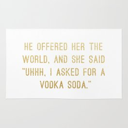 Vodka Soda Rug