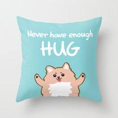Hug Pomeranian Throw Pillow