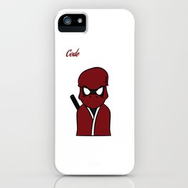 """Code Ninja Computer Coding"" for computers codes and word-press addicts like you and your friend!  iPhone Case"