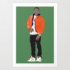 GUSTAVO FRING MODERN OUTFIT -  BREAKING BAD Art Print